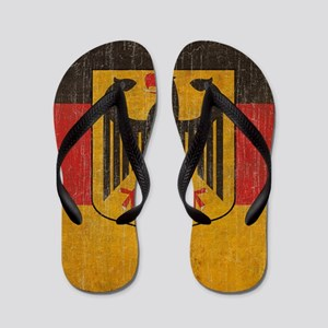 Vintage Germany Flag Flip Flops
